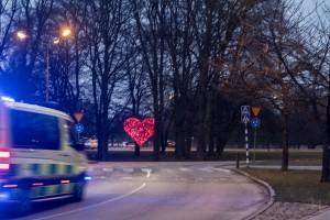 Ingvar Willander-Pildammsrondellen - Hjärta - Ambulans